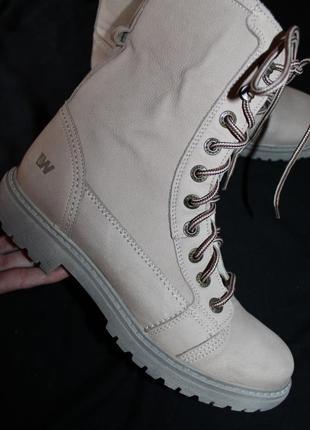41 разм. ботинки weinbrenner. кожа