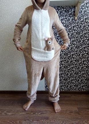 Кигуруми кенгуру слип пижама