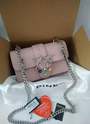 Женская кожаная сумка pinko люкс качество
