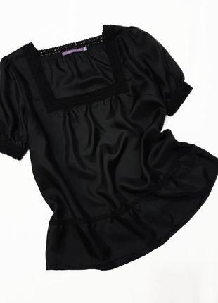 Indiska шелковая кружевная блузка блузка кружево кватратный вырез большой размер пог 60 см