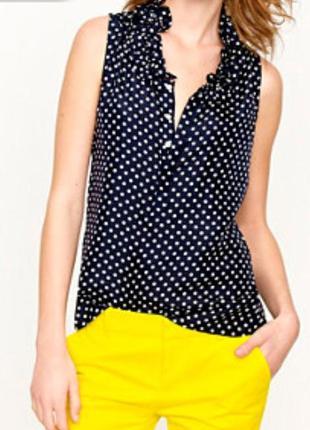 Блуза в горох рубашка