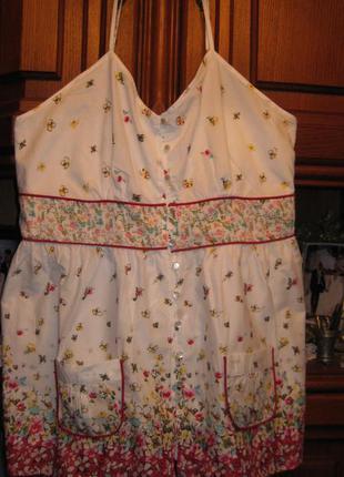 Блуза брендовая  на бретелях летняя коттон р 20  бангладеш