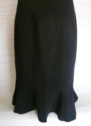 Юбка черная расклешенная к низу marks & spencer