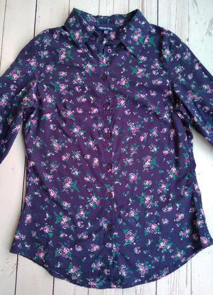 Рубашка в цветочек, блузка