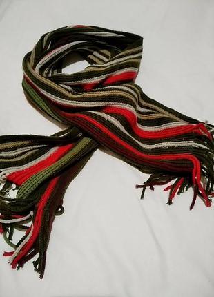 Длинный шарф в полоску 26х200