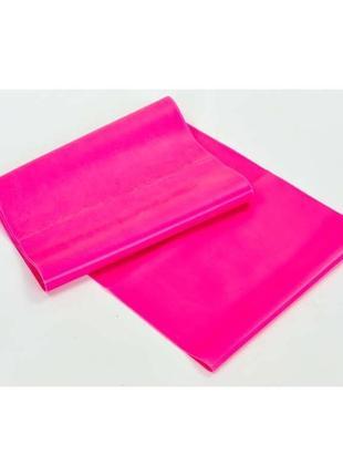 Лента эластичная для фитнеса и йоги frb-001 - розовая