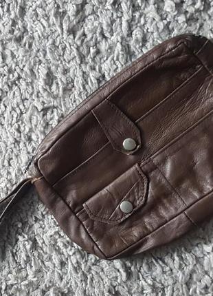 Кожаная,стильная,удобная сумка-барсетка