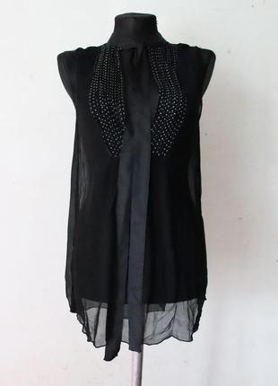 Блуза топ by malene birger 100% шелк премиум бренд