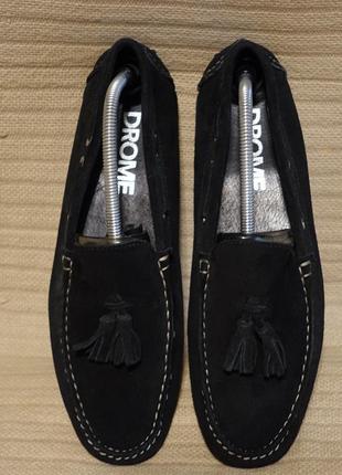 Изящные черные кожаные мокасины драйверы drome италия 42 р.