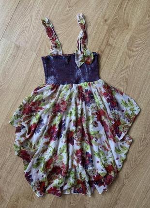 Яркое коктейльное платье 100% вискоза