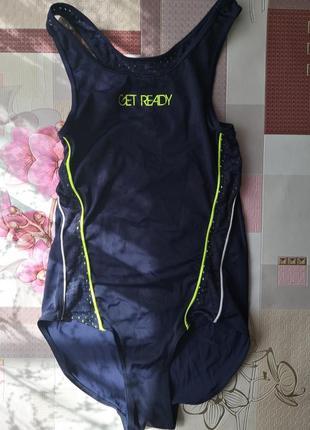 Детский спортивный современный купальник, размер 134/140.