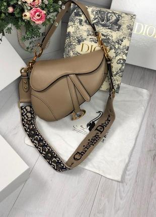 Стильная женская сумка диор седло seddle в коже