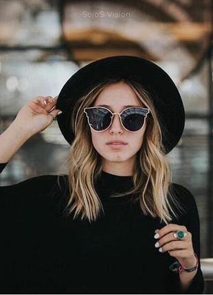 Модные женские солнцезащитные очки cat eye фирмы sojos