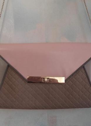 Стильная  сумка-клатч  с цепочкой