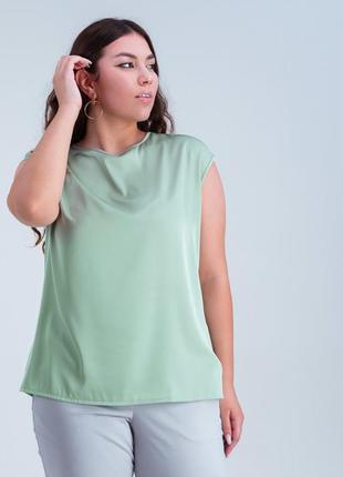 Базовая, лёгкая блузка, майка, размеры 42-60