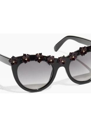 Черные очки с цветочным узором & other stories