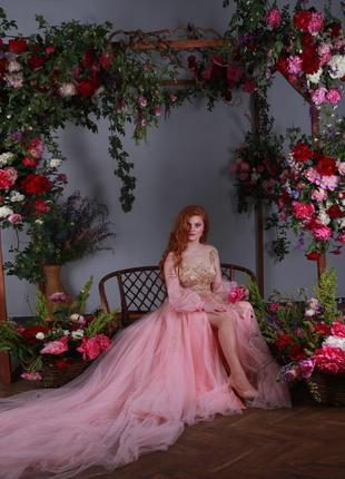 Шикарное вечернее платье, платье для фотосессий, фемели лук