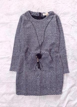 Теплое платье с кулончиком