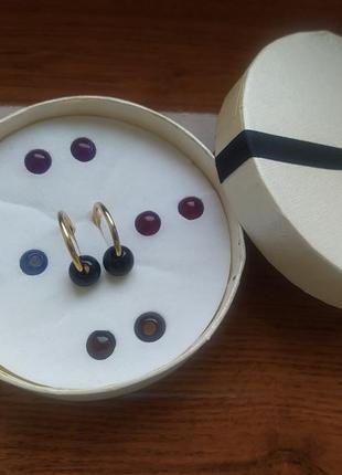 """Сережки (подарунковий набір) з змінними намистинами """"кенді"""" (серьги) від avon"""