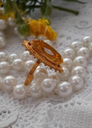 Перстень кольцо ссср красная пресня леденец винтаж советский медовый кристалл