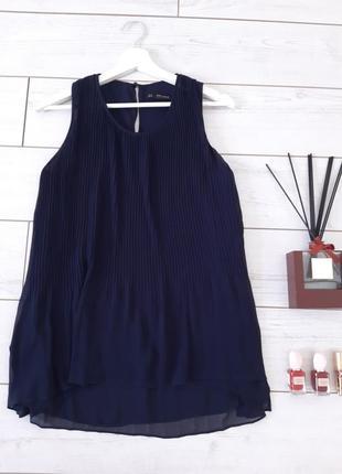 Zara изумительная удлиненная блуза гофрэ..# 406