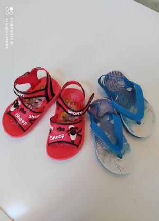 Лот летней обуви (вьетнамки primark, босоножки резиновые барашек шон)