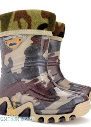 Резиновые сапоги demar stormic lux print камуфляж