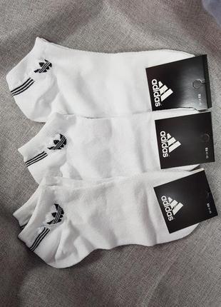 Носки adidas короткие белые лето