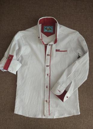 Рубашка детская для мальчика стильная в школу