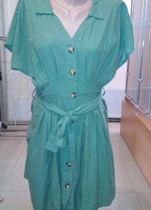 Платье на пуговицах с пояском турецкое2 фото