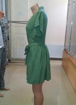 Платье на пуговицах с пояском турецкое3 фото