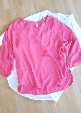 Блуза рубашка туника кимоно вискозный шелк