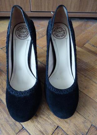 Красивые замшевые туфли welfare
