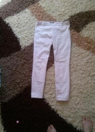 Шикарные укороченные  брюки нежно пудрового цвета