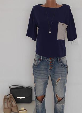 Блуза кофта майка с кармашком