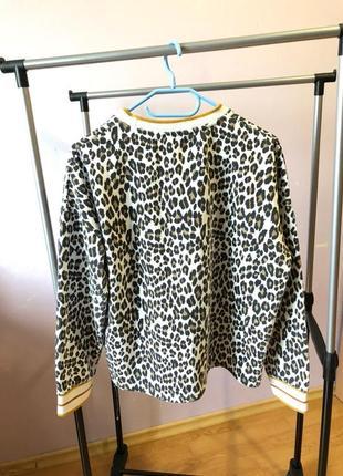 Кофта леопардова pimkie світшот свитшот худи худі толстовка джемпер футболка майка