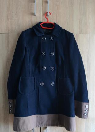 Акционная цена! стильное пальто от next с пуговицами на манжетах