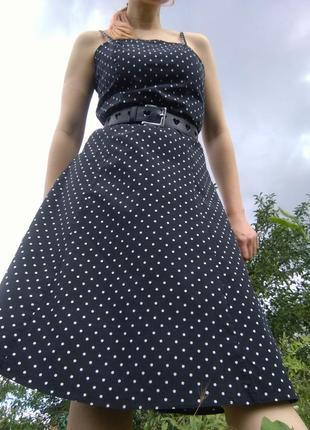 Ретро-платье в горошек