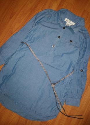 Платье рубашка h&m 3-4 года