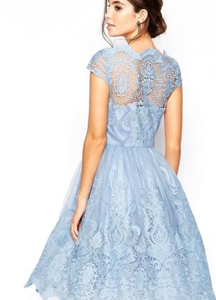Купить платье вечернее голубого цвета