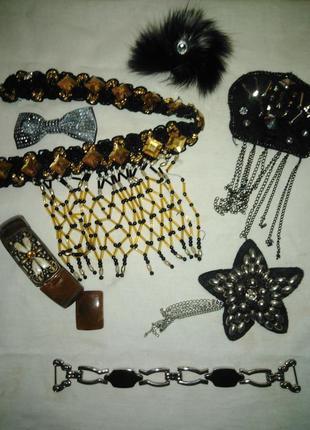Набор : подвески, браслеты,заколки.