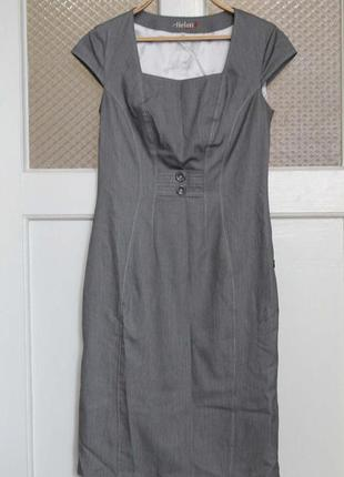 Деловой стильный сарафан платье  helen-a 44