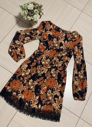 Стильное платье свободного кроя, miss selfridge, размер 36 с/хс