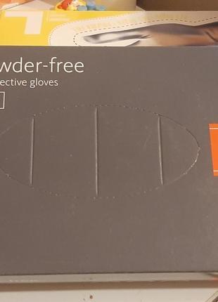 Перчатки виниловые/нитриловые для бытового использования,  одноразовые 100 штук