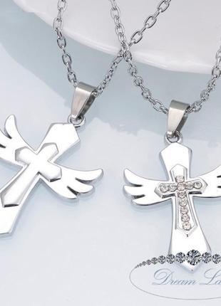 """Парные кулоны для влюбленных """"крылья ангела"""""""