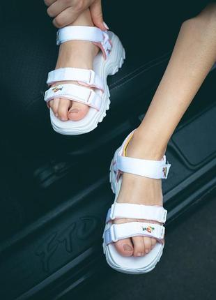 Сандали skechers d'lites sandal white босоножки белые