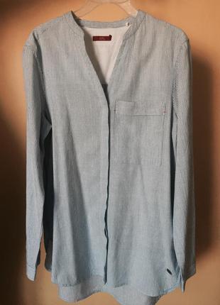 Удленненная полосатая рубашка esprit
