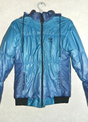 Теплая спортивная куртка adidas))