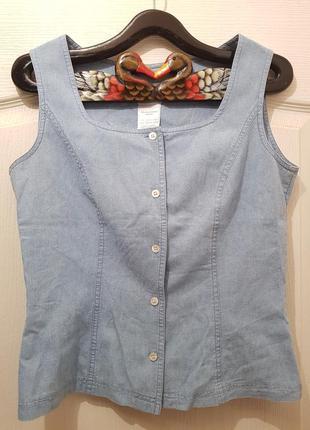Роскошный винтажный котоновый топ laura ashley в стиле прованс