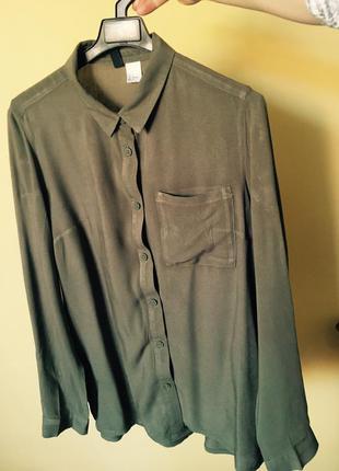 Шифоновая блуза рубашка h&m